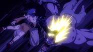 Gajeel hits the Demon