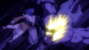 Gajeel hits the Demon
