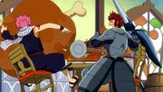 Natsu y Dan compiten