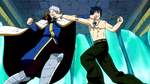 Gray and Lyon punch each other