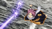 Natsu deflects Arlock's Magic