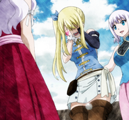 Lucy cries at Fairy Tail's meeting
