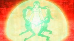 Lucy, Yukino y Hisui recitan el Gottfried
