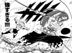 Erza slashes through Kyôka