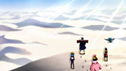 Team Natsu at the desert