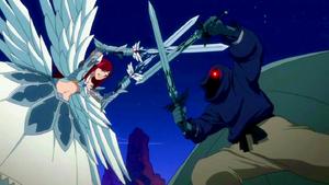 Erza battles Daphne's monsters
