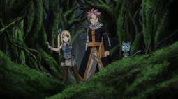 Lucy, Natsu y Happy Llegan a la base de Avatar