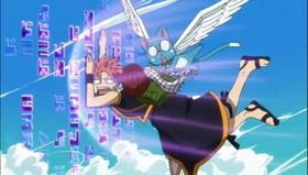 Natsu choca contra las runas de Fred