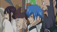 Siegrain and Ultear watch Natsu a trick