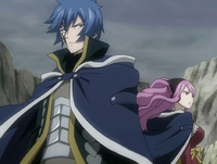 Jellal and Meredy stand against Oración Seis