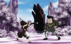 Lala bloquea a Natsu