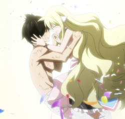 Momento final de Zeref y Mavis
