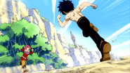 Natsu and Gray battle as kids