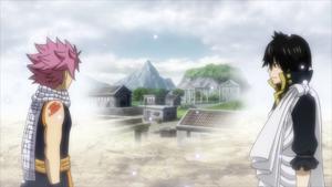 Natsu and Zeref go through their past