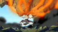 Natsu eats fire