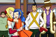 Levy hugging Lucy