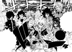 Los siete Dragon Slayer frente a Acnologia