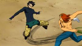 Toby fighting Kurohebi