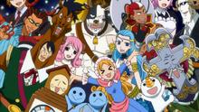 Los espíritus celestiales reciben a Lucy y sus amigos