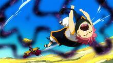 Natsu es golpeado por Zancrow