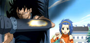 Gajeel save Levy