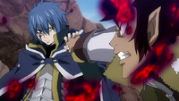 Jellal blocks Cobra's strike