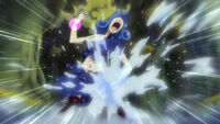 Juvia attacks her leg