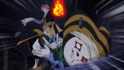 Natsu noquea a Abel