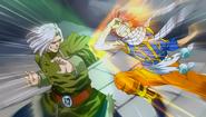 Natsu attacks Zero