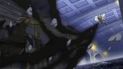 Natsu es atacado por Rogue