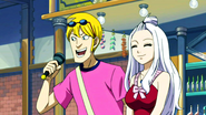 The commentators - Mirajane and Jason