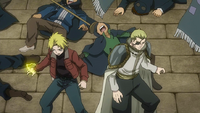 Yuri and Precht vs. Blue Skull