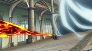 Laxus about to get hit by the breath combo