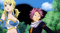 Natsu and Lucy feel an earthquake