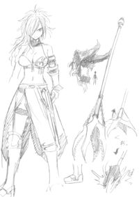 Early sketches of Erza Knightwalker