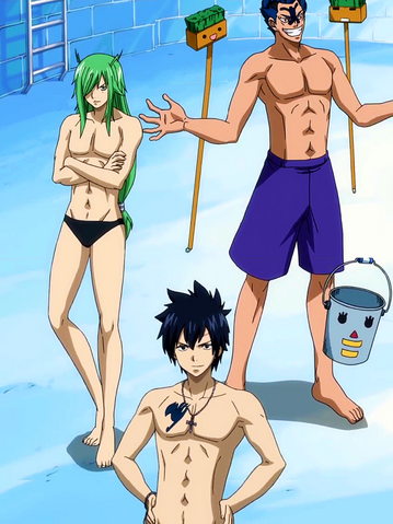 File:Gray, Freed and Bickslow clean the pool.png