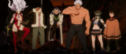 The other Fairy Tail members arrive for back-up