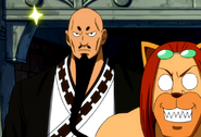 Annoyed bald Jura