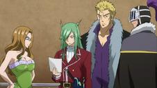 Laxus y los Raijinshuu comprueban el pedido