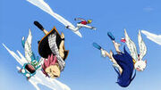 Racer hits down Cats Natsu and Wendy