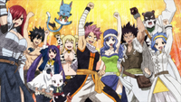 Erza and others celebrate