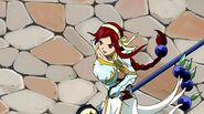 Erza leaving the Kardia Cathedral
