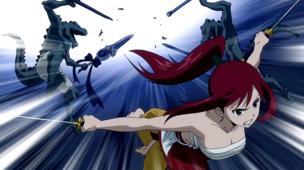 Erza Scarlet Vs Daphnes Lizardmen Fairy Tail Wiki Fandom