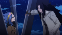 Gajeel scolds Levy