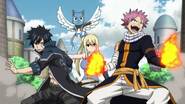 Team Natsu defends the city