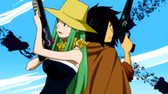Alzack and Bisca ready their weapons