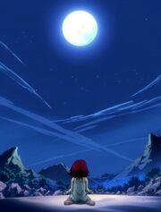 Erza observa la luna