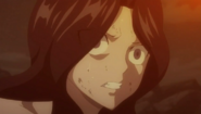 Cana staring at Acnologia's rampage