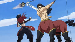Erza vs. Sagitario