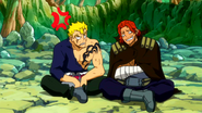 Gildarts laughing at laxus